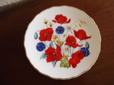 ROYAL ALBERT DISPLAY PLATE LTD EDITION CORNFIELD POPPIES JO HAGUE